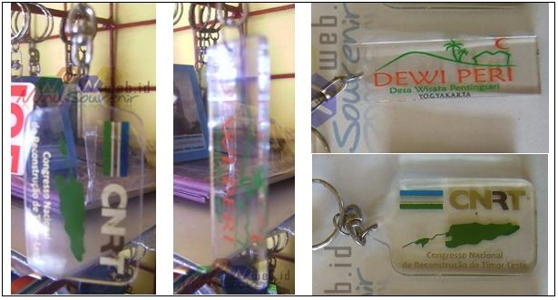 Gantungan kunci Acrylic Bening Transparan