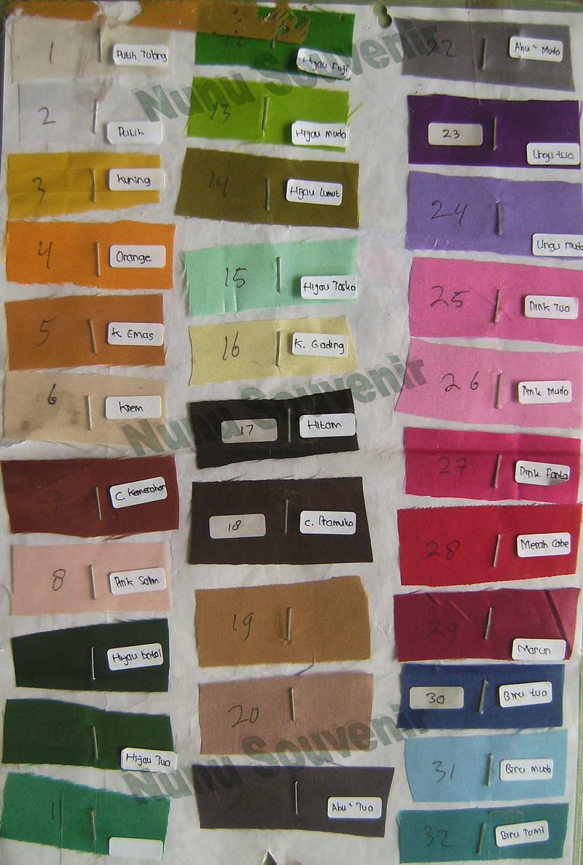 Pilihan Warna kain Kipas